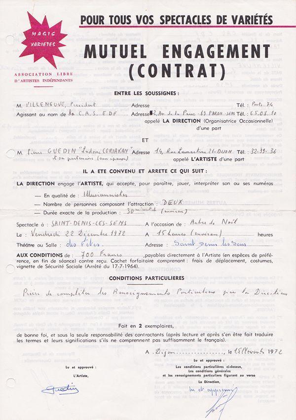 Contrat Recto