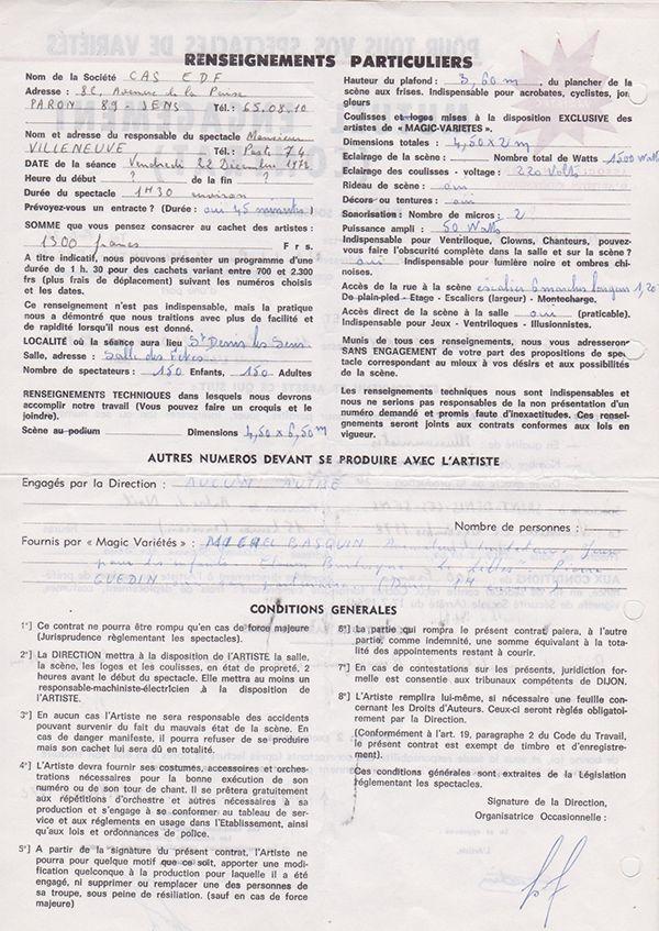 Contrat Verso